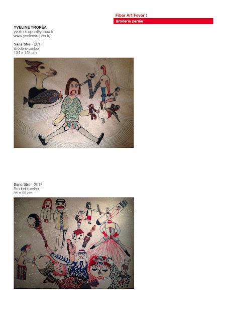 art textile contemporain, broderie perlée