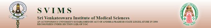 सहायक नर्स -श्री वेंकटेश्वर इंस्टीट्यूट ऑफ मेडिकल साइंसेस में - SVIMS भर्ती