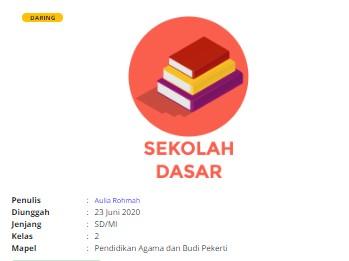 Download RPP Daring PAI SD Kelas 2