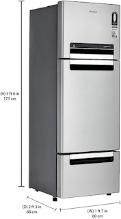 Whirlpool 300 L Frost Free Multi-Door Refrigerator (FP 313D Protton Roy Alpha Steel)