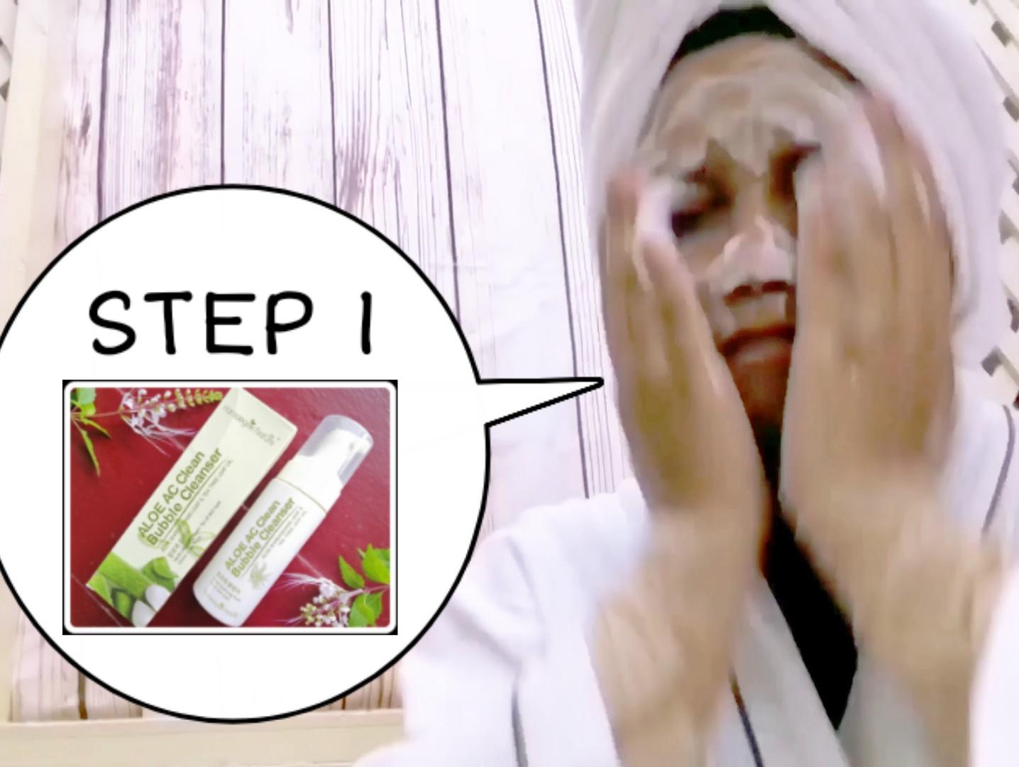 aqua whitening cream hansaegee review, Hansaegee 3-Steps Skincare Routine Buat Kulit Syu Jadi Segar Bermaya dan Glowing, aqua whitening cream, gold nano cc cream, aloe AC clean bubble cleanser