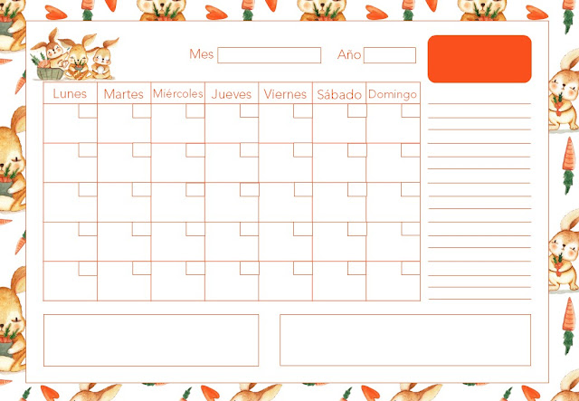 calendario, a4, gratis, horizontal, descargar, imprimir, imprimible