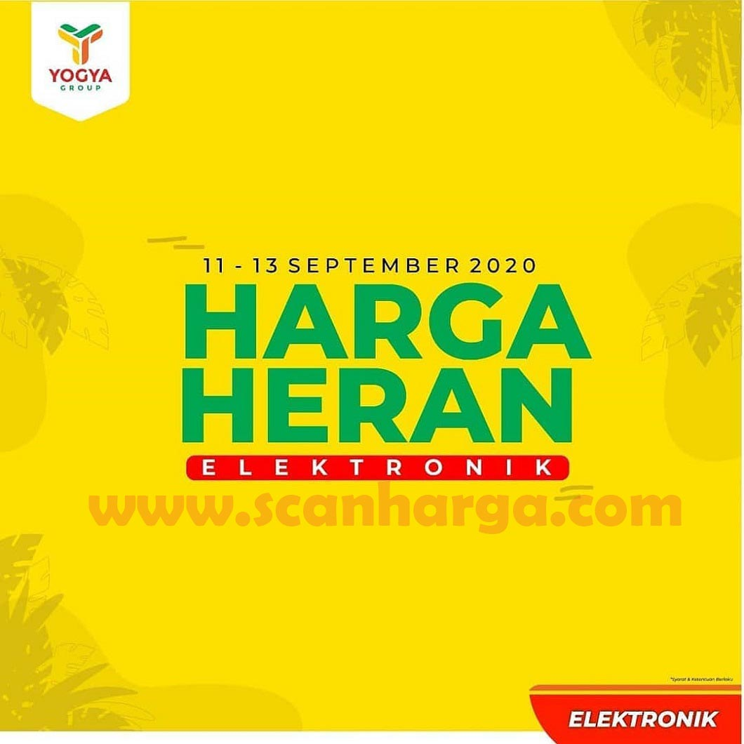Promo Toserba Yogya Elektronik Akhir Pekan Periode 11 - 13 September 2020