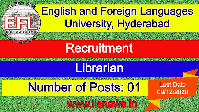 Librarian at English and Foreign Languages University, Hyderabad