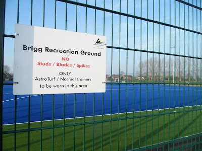 Brigg Recreation Ground's synthetic 'Blue Astro' floodlit hockey pitch - February 2019