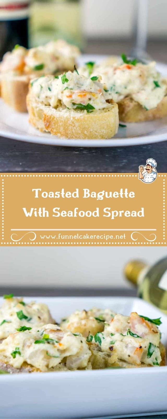 Toasted Baguette With Seafood Spread