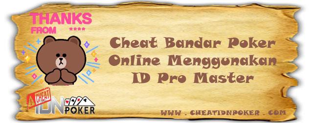 Cheat Capsa Bandar Poker Menggunakan ID Pro Master