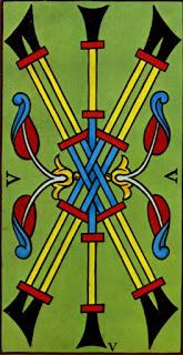 cinq de bâton