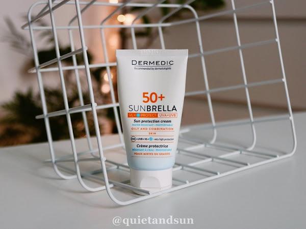 Dermedic, Sunbrella, Krem ochronny do twarzy SPF 50+ skóra tłusta i mieszana