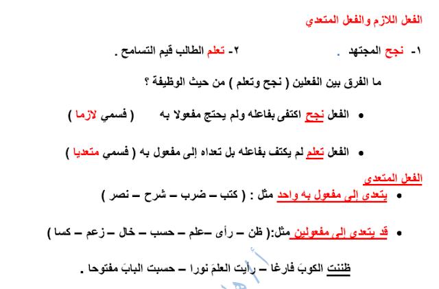 مذكرة القواعد لغة عربية الصف العاشر الفصل الثاني إعداد هاني البياع