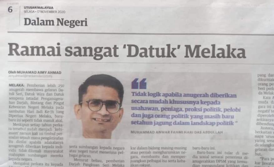 Isu Datuk Melaka