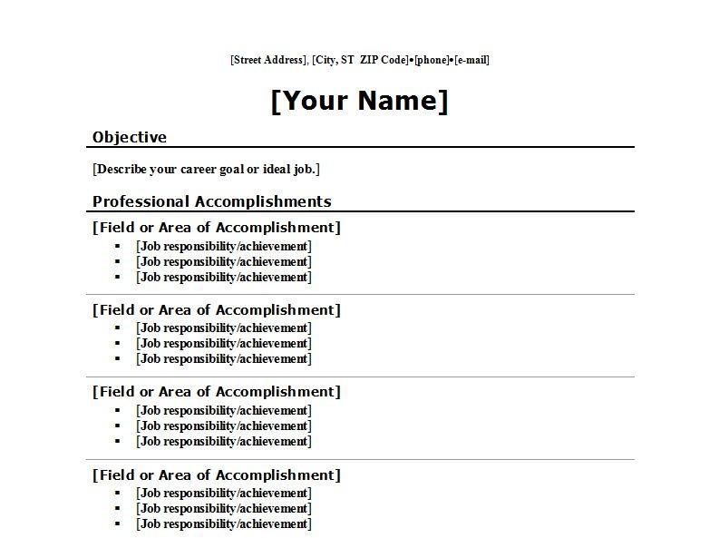 brief resume format hola klonec co