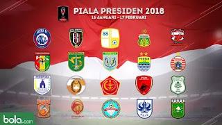 Pembagian Grup Piala Presiden 2018 Tanpa Undian