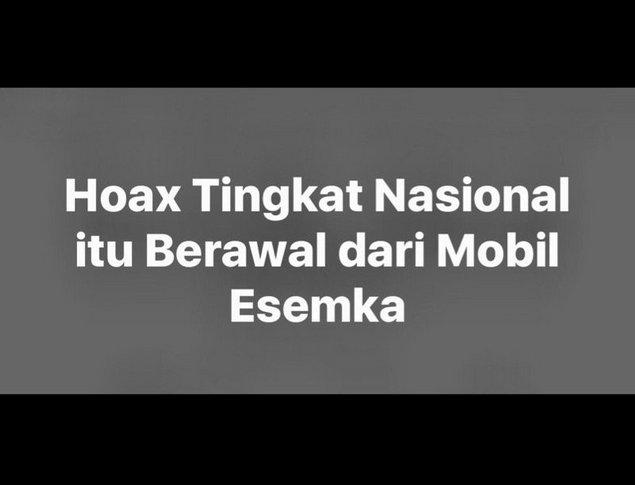 Netizen: Hoax Tingkat Nasional Itu Berawal Dari Mobil Esemka | Muslimina