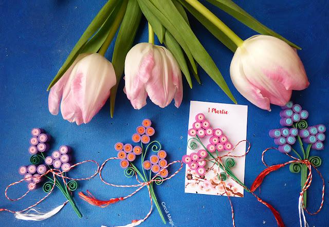 martisoare handmade 2016 circul magic quilling flori - fluturi