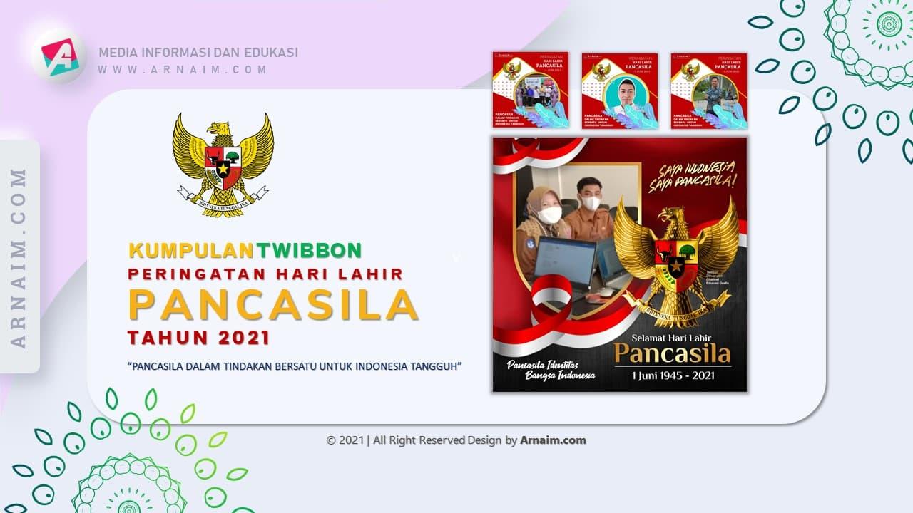 Arnaim.com - Kumpulan Twibbon Elegan Hari Lahir Pancasila Desain 2