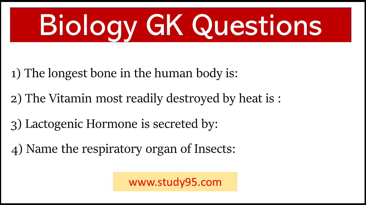 Biology General Knowledge Questions and Answers pdf