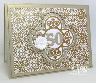 ODBD Medallion Background, ODBD Medallion Sentiments, ODBD Custom Majestic Medallion Dies, ODBD Custom Flourishy Frame Dies, ODBD Custom Double Stitched Rectangles Dies, ODBD Custom Fancy Foliage Dies, ODBD Custom Birds and Nest Dies, Card Designer Angie Crockett
