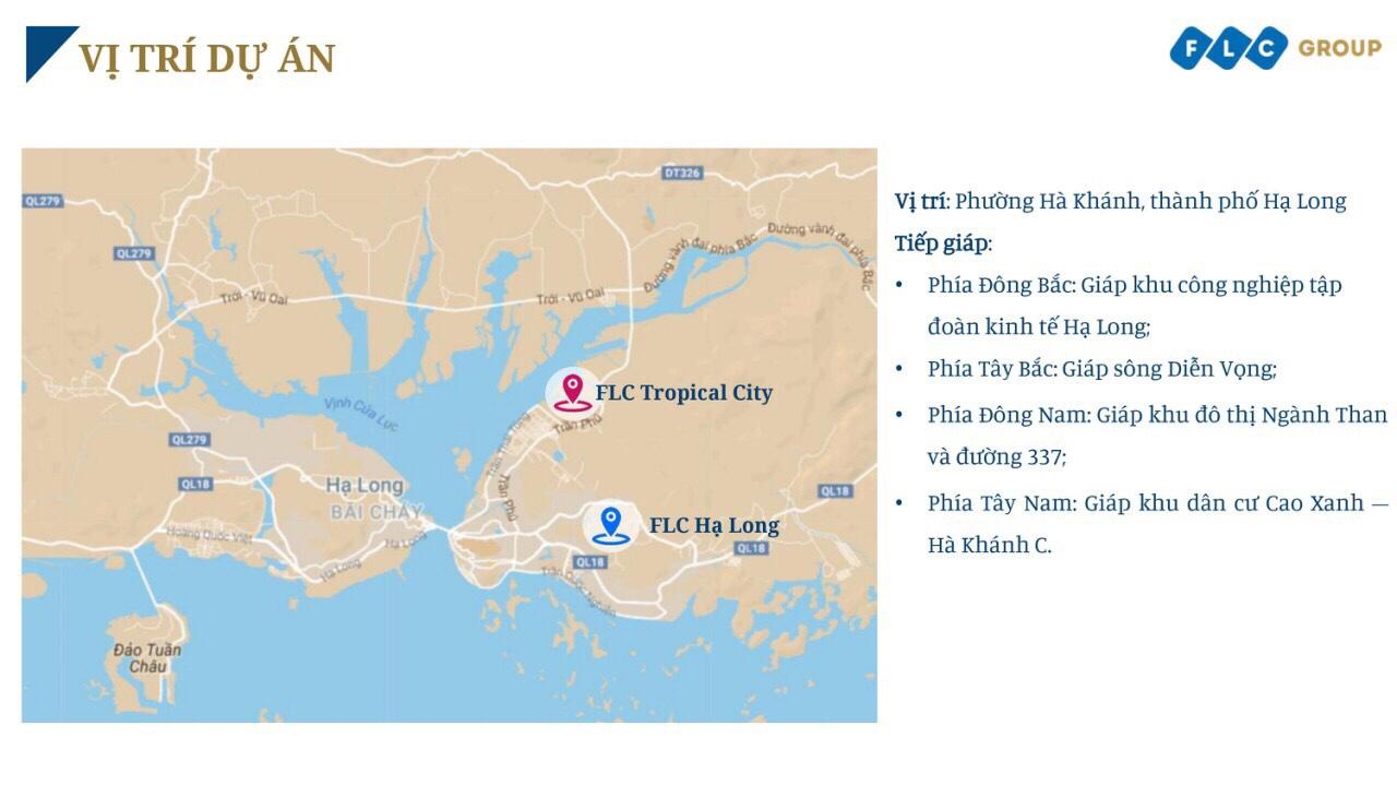 Vị trí dự án Flc Tropical City Hà Khánh Hạ Long