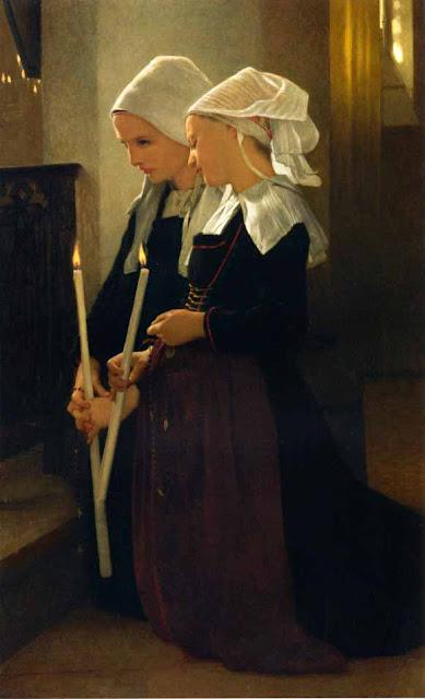 Адольф Вильям Бугро - Обет святой Анне (1869)