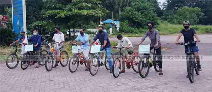 News, Kerala, Kasaragod, DYFI held bicycle rally