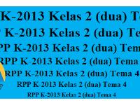 RPP Tematik K13 Kelas 2 Tema 4 Komplit