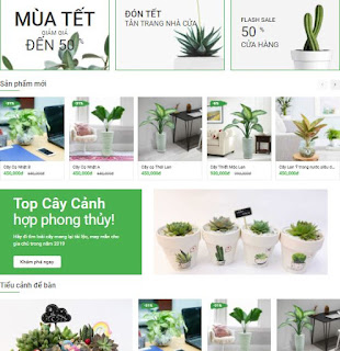 Giao diện Web bán cây cảnh - Theme Blogspot Ant Green 2021 - Blogspotdep.com