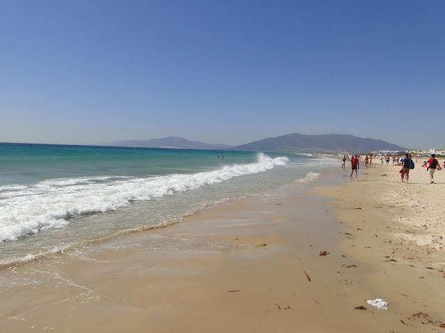 Playa de Tarifa vista de la orilla