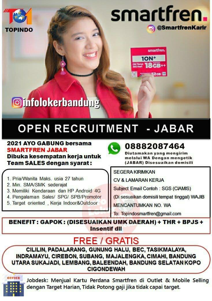 Lowongan Kerja Smartfren Jawa Barat Mei 2021