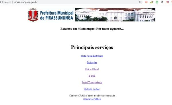 Frágil e sem segurança, site da prefeitura de Pirassununga é atacado por hackers