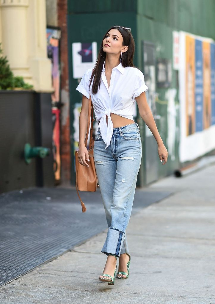 Victoria Justice in Chic Street Style at Tribeca in NYC