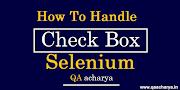 How To handle Checkbox in Selenium using Java