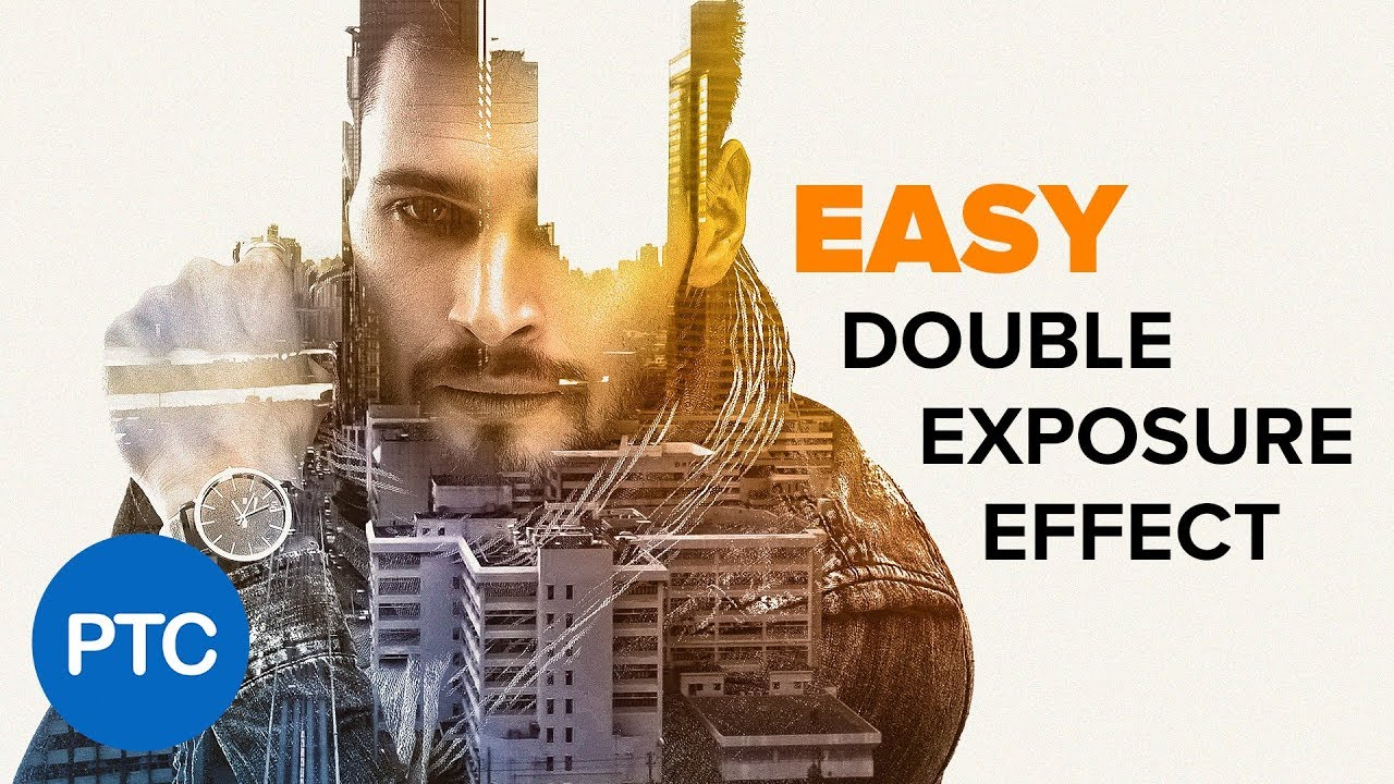 DOUBLE EXPOSURE Effect Photoshop Tutorial - EASY Double Exposure in Photoshop