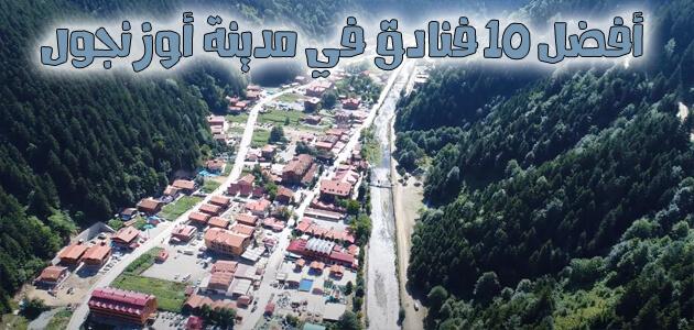 لقطة من الأعلى لمدينة أوزنجول في تركيا