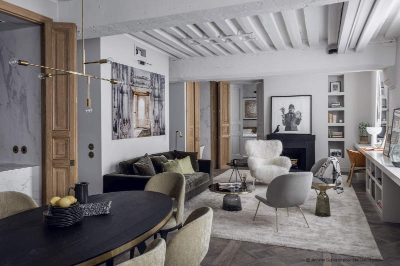 decordemon parisian apartment in gray by double g
