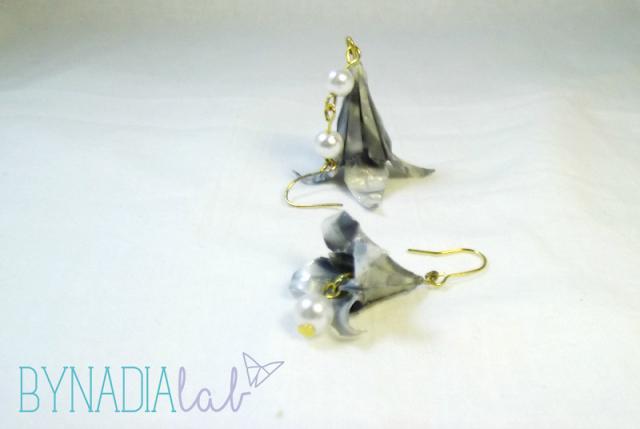 orecchini giglio origami bynadialab