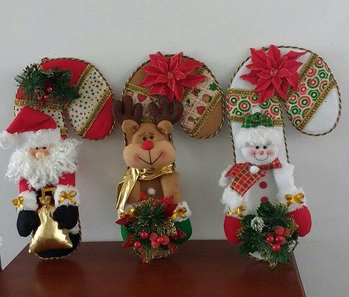Haz Lindos Bastones Navideños En Fieltro Para Decorar Navidad Haz