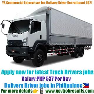YS Commercial Enterprises Inc Delivery Driver Recruitment 2021-22