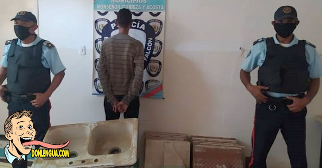 IMPRESIONANTE | Detenido en Chichiriviche por robarse una poceta vieja