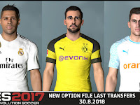 PES 2017 New Option File Mariano Diaz to Real Madrid - Released 30.8.2018