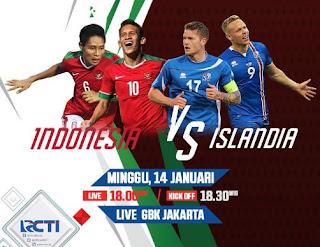 Jadwal Siaran Langsung Timnas Indonesia vs Islandia
