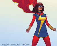 iconic floating cape image of Ms. Marvel