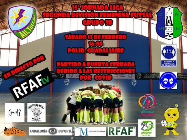 Atlético Torcal y CD Hércules se miden hoy en el Guadaljaire (16:00)