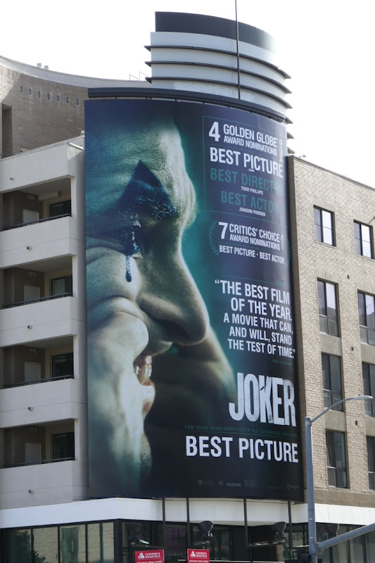 Joker Golden Globe nominee billboard
