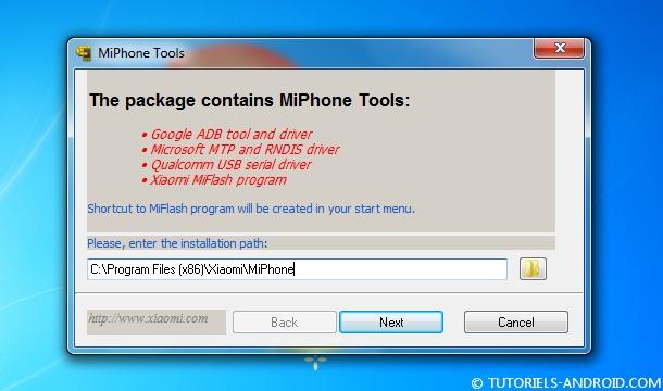 Installer MiPhone Tools