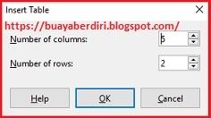 Cara Insert Table di Libre Office Impress Presentation