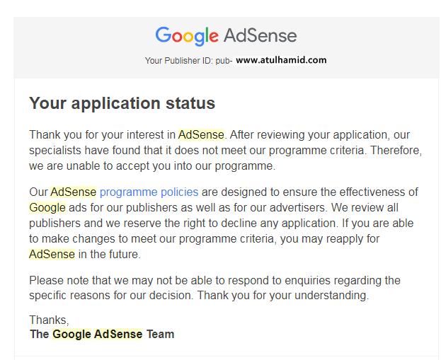 11 Tips Lulus Permohonan Google Adsense dengan mudah