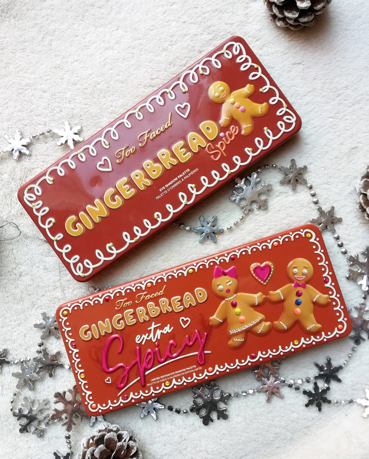 Gingerbread Extra Spicy de TOO FACED : swatch & make up (Noël 2019)