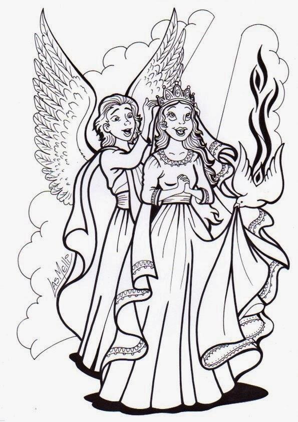 El Rincón de las Melli: DIBUJO: María coronada como Reina