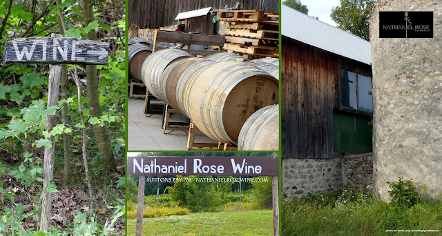 Photos by Annie Lang of visit to Nathaniel Rose vineyard Suttons Bay MI 2019